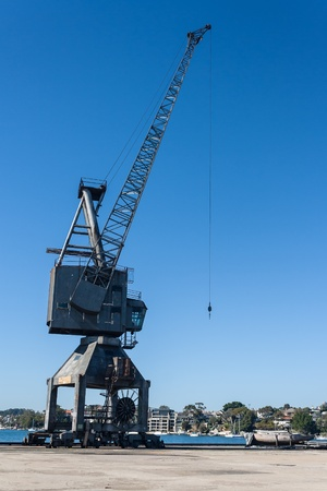 dysfunctional: disused crane on Cockatoo Island