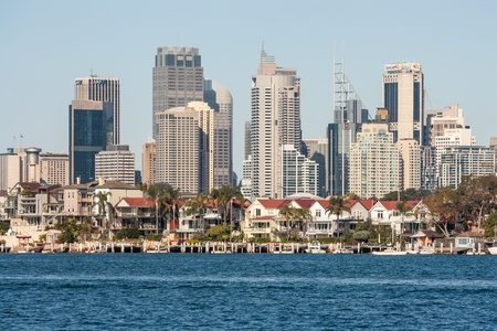 port jackson: Sydney suburb with CBD in background Editorial