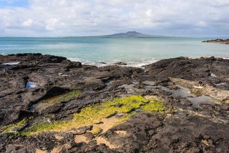 north shore: volcanic rocks on North Shore coast