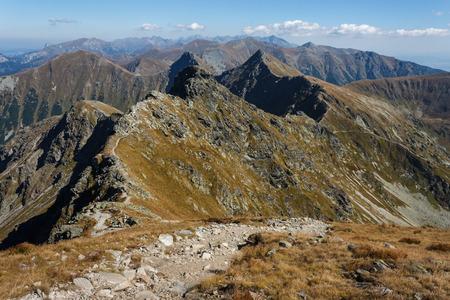 meandering: footpath meandering across Tatras peaks