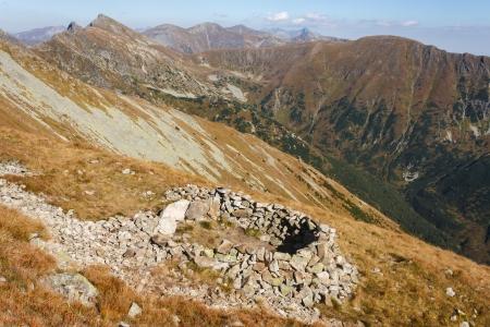 sheepfold: Western Tatras panorama