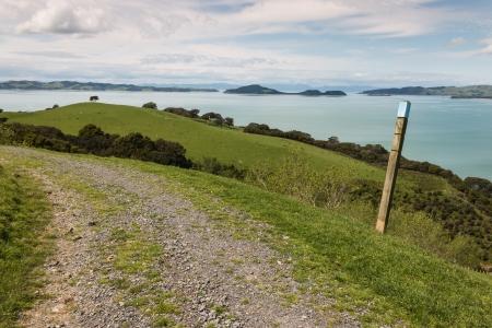 tramping: walking track in Duder Regional Park