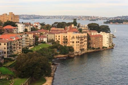 port jackson: residential houses in Kirribilli suburb in Sydney Stock Photo