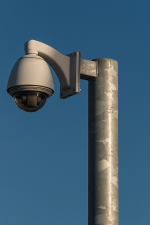 dome camera mounted on pole photo