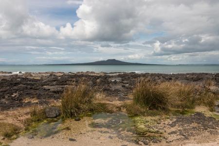 north shore: view of Rangitoto Island from North Shore