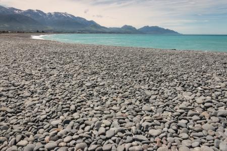 kaikoura: pebbly beach at Kaikoura