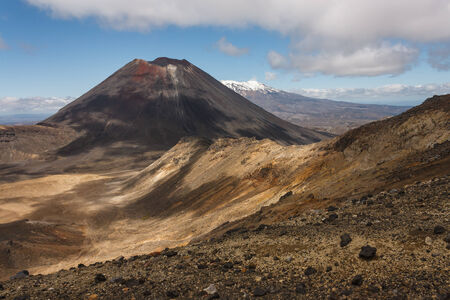 stratovolcano: Mount Ngauruhoe in Tongariro National Park