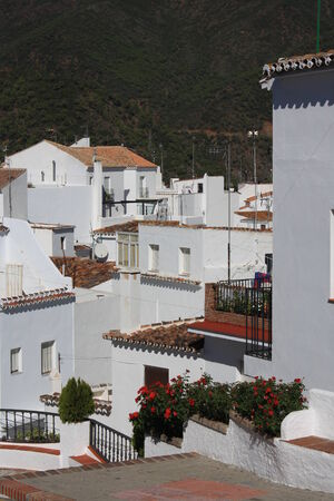 spanish village: whitewashed houses in Spanish village in Andalusia