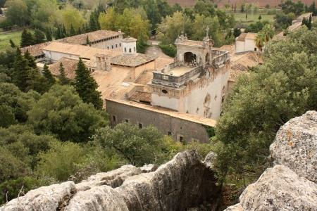 Santuari de Lluc monastery in Mallorca 스톡 콘텐츠