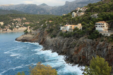 aerial view of coast near Port de Soller - Mallorca photo