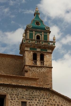 frederic chopin: tower of Valldemossa Charterhouse, Mallorca Stock Photo