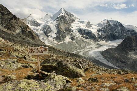 panoramic view of Zinal glacier, Switzerland
