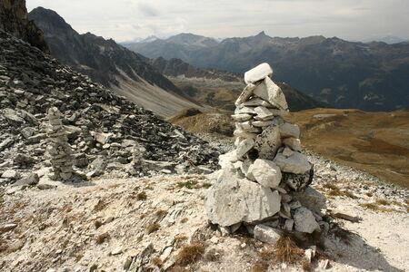 cairn: cairn in Swiss Alps