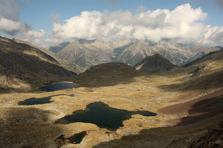 bird s eye: bird s eye view of Posets-Maladeta lakes