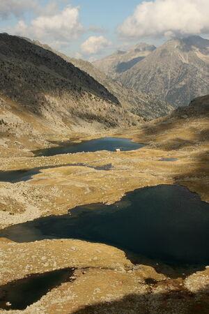glacial lakes in Posets-Maladeta Natural Park Stock Photo