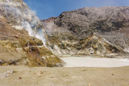 crater lake: crater lake on White Island