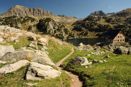 Refuge de Colomers in Aragon Pyrenees