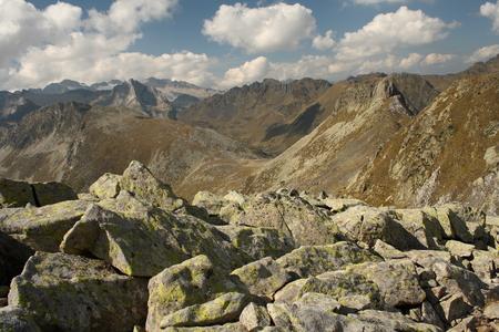 aran: peaks in Val d Aran national park Stock Photo