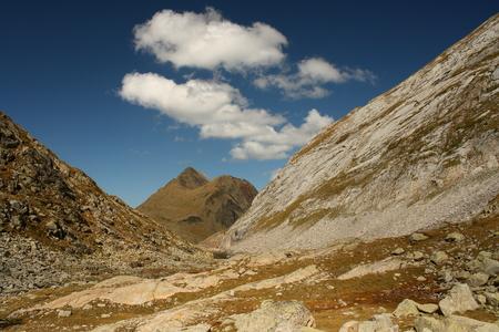 aran: peaks in Val d Aran - Spanish Pyrenees Stock Photo