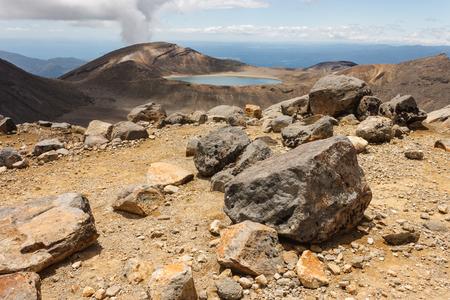 tongariro: Lago azul en el Parque Nacional de Tongariro