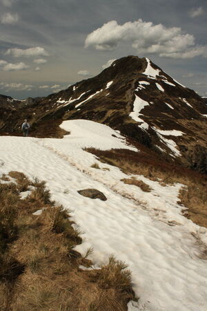 cantal: walking at Puy Mary - Massif Central Stock Photo