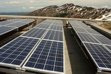 solar panels at Puy Mary - Massif Central photo