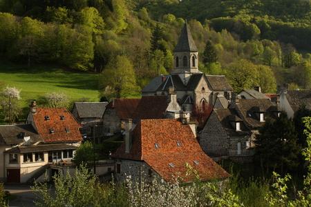 village in Massif Central, France Stock Photo