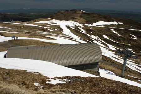 cantal: ski resort at plomb du cantal