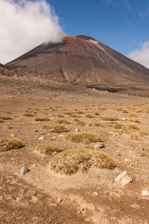 tongariro: barren landscape in Tongariro National Park