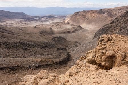 tongariro: volcanic terrain in Tongariro National Park Stock Photo