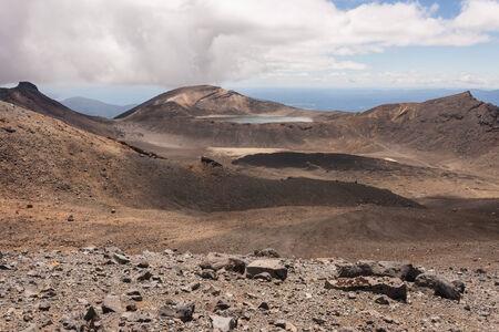 tongariro: volcanic landscape in Tongariro National Park