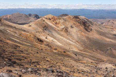 tongariro: �ridas laderas en el Parque Nacional de Tongariro