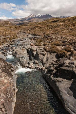 tongariro: stream in Tongariro National Park Stock Photo