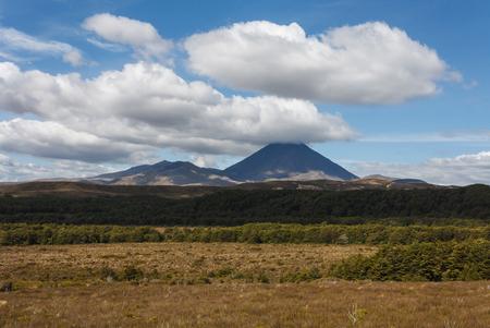 tongariro: clouds over Tongariro National Park  Stock Photo