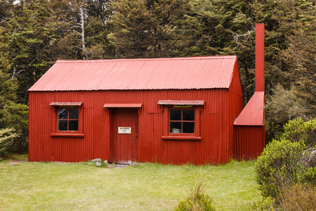 tongariro: caba�a hist�rica en el Parque Nacional de Tongariro Editorial