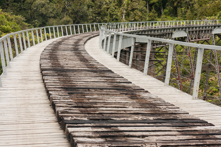 detail of historic rail viaduct near Ohakune