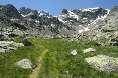 high sierra: high altitude meadow in Sierra de Gredos Stock Photo