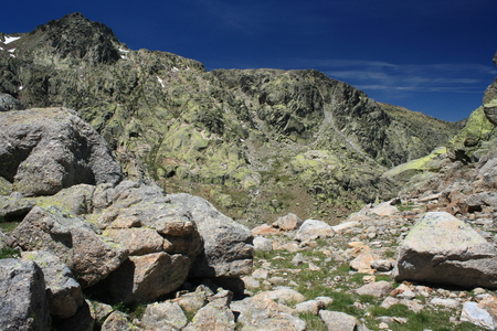 rocky peaks in Sierra de Gredos national park photo