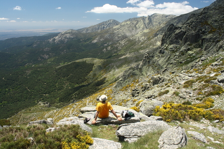 high sierra: view from Sierra de Gredos mountains