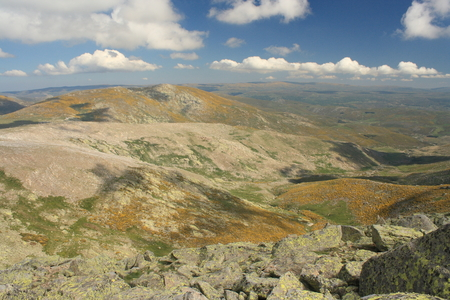 panorama of hills in Sierra de Gredos
