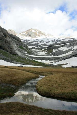 ordesa: Glacial stream in Ordesa y Monte Perdido National Park