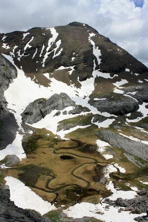 Glacial lake in Ordesa National Park