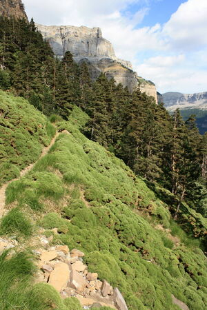 ordesa: footpath in Ordesa y Monte Perdido national Park