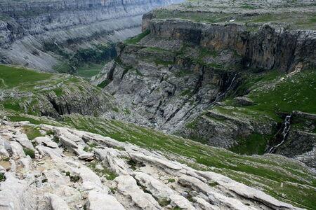 ordesa: Detail of Valle de Ordesa Stock Photo