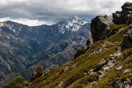 kaikoura: Mount Manakau in Kaikoura Ranges Stock Photo