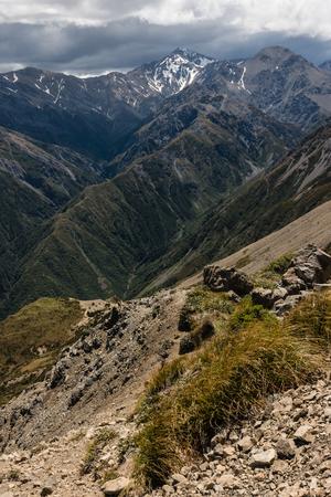 ranges: valle glaciale a Kaikoura Ranges Archivio Fotografico