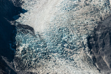 icefall: flowing glacier Stock Photo