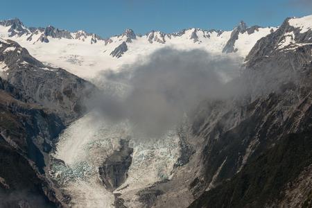 franz josef: Franz Josef Glacier nubes obsuring