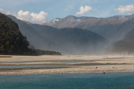 dusty: dusty storm above Haast river