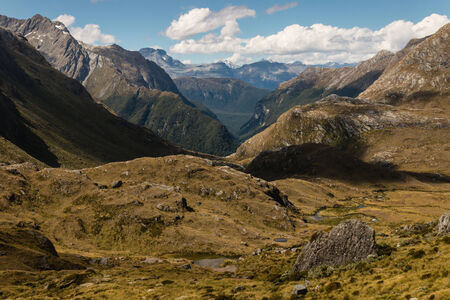 aspiring: glacial valley in Mount Aspiring National Park, New Zealand